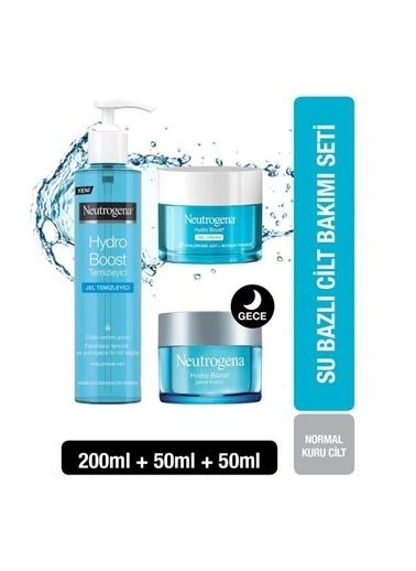 Neutrogena Hydro Boost Gel Cream 50 Ml+Gece Kremi 50Ml+Jel Temizleyici 200 Ml Renksiz